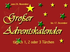 Adventskalender Türchen 1