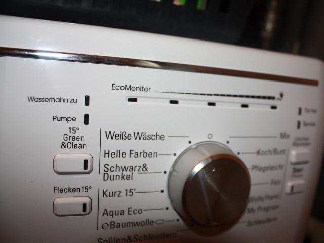Bedienoberfläche Waschmaschine